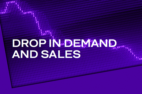 Drop in Demand and Sales 500x333